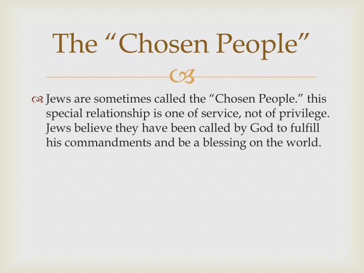 "The ""Chosen People"""