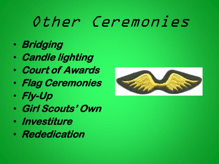Other Ceremonies