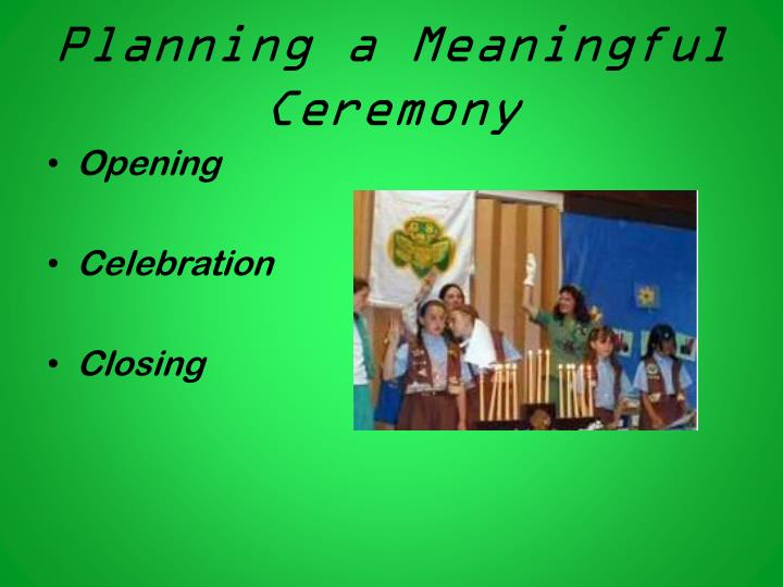 Planning a Meaningful Ceremony