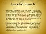 lincoln s speech