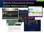 website enhancement services custom website designs