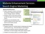 website enhancement services search engine marketing