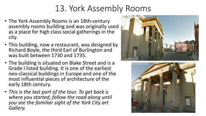 13. York Assembly Rooms