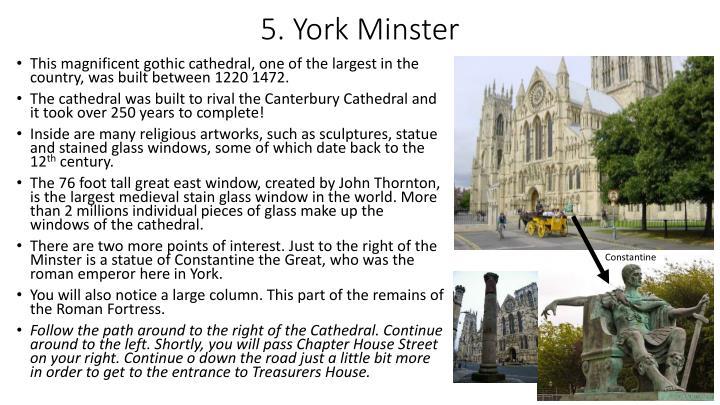 5. York Minster
