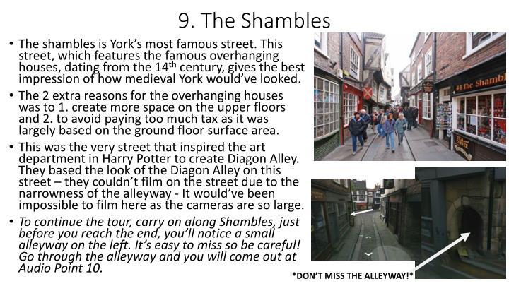 9. The Shambles