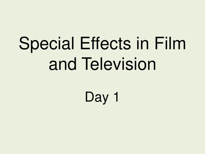special effects in film and television n.