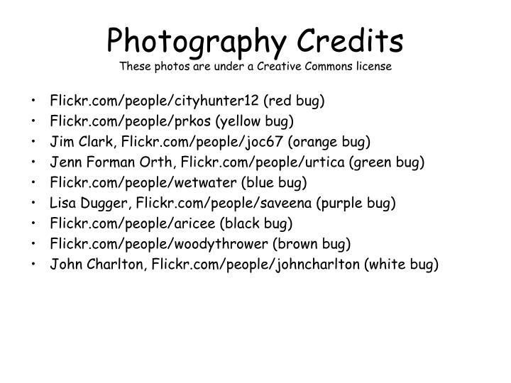 Photography Credits