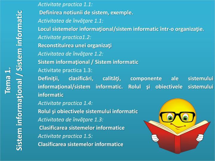 Unitatea de competen modelarea sistemelor informatice