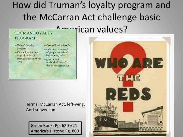 How did Truman's loyalty