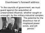 eisenhower s farewell address