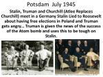 potsdam july 1945
