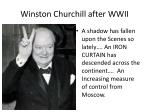 winston churchill after wwii