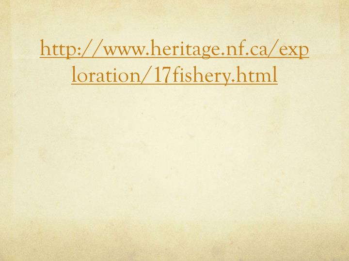 http://www.heritage.nf.ca/exploration/17fishery.html