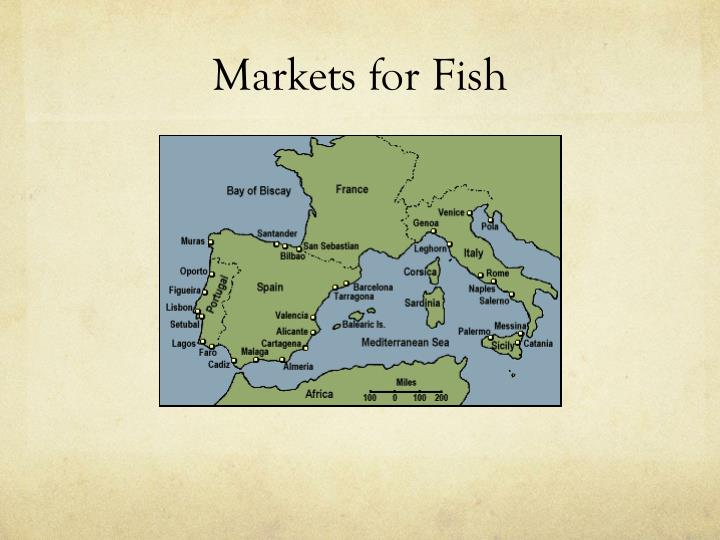 Markets for fish