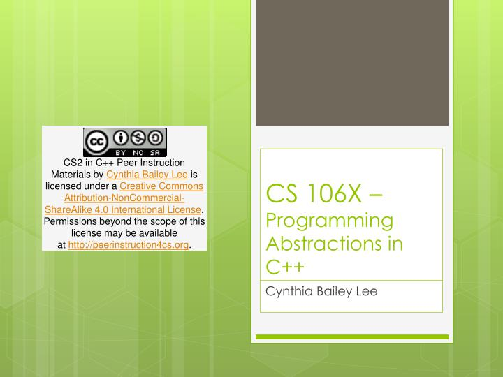 cs 106x programming abstractions in c n.