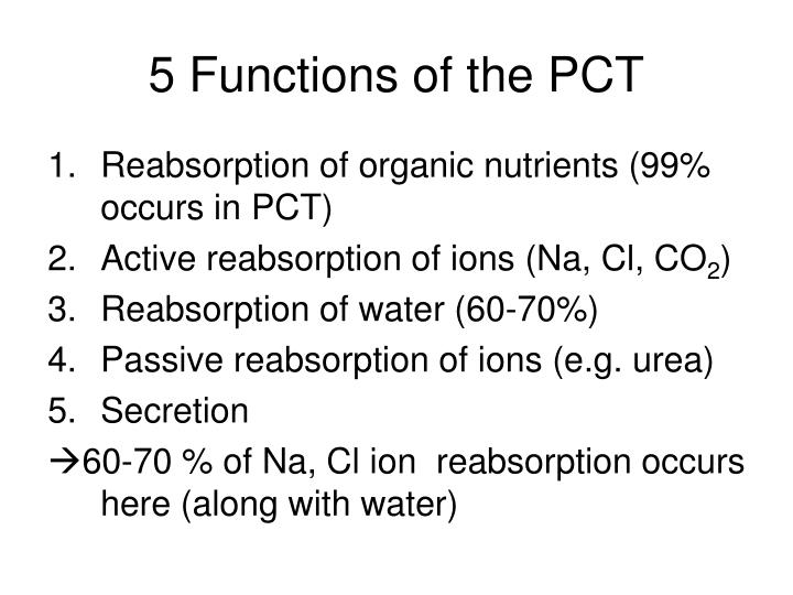 5 Functions of the PCT