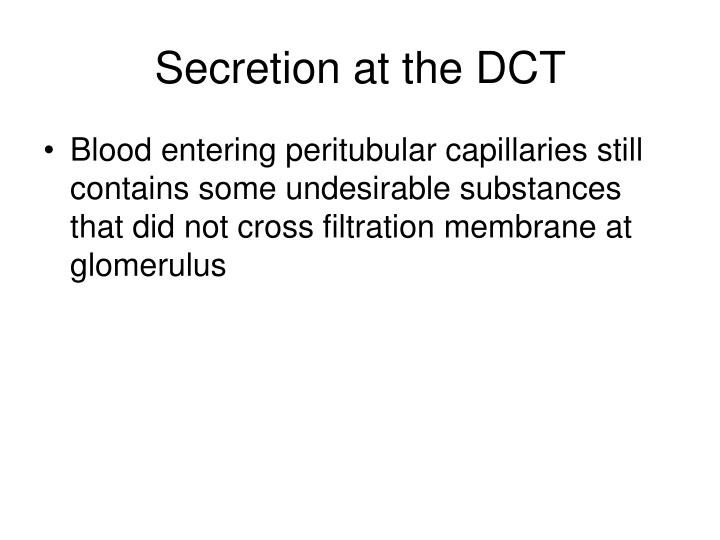 Secretion at the DCT