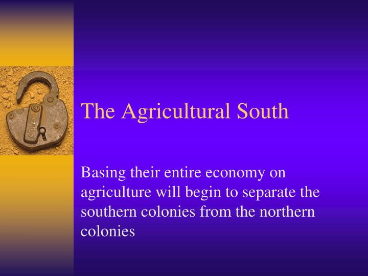 the agricultural south n.