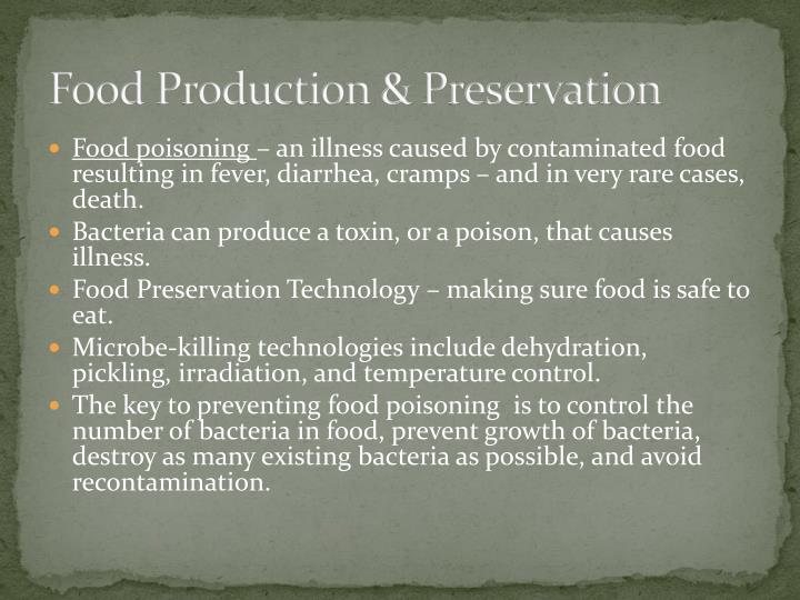 Food Production & Preservation