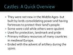 castles a quick overview