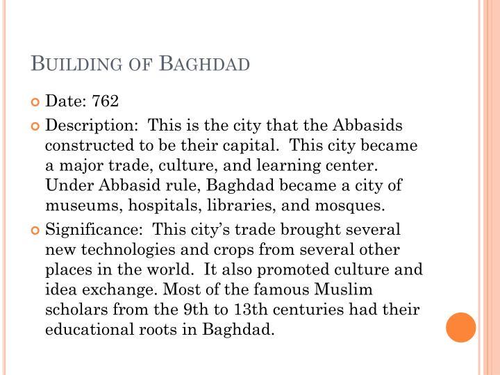 Building of Baghdad