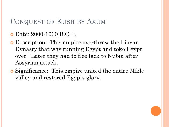 Conquest of kush by axum