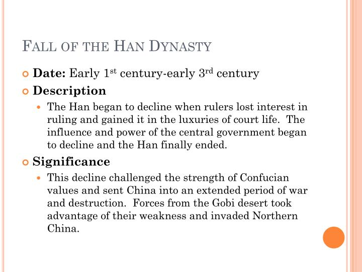 Fall of the Han Dynasty