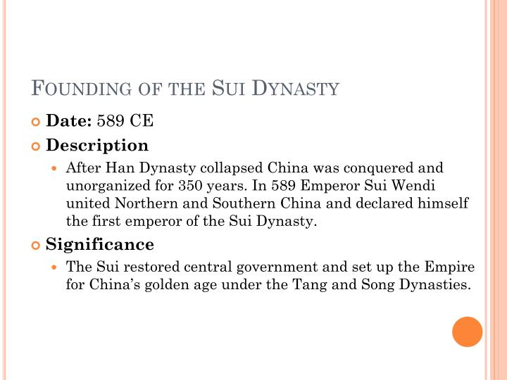 Founding of the Sui Dynasty
