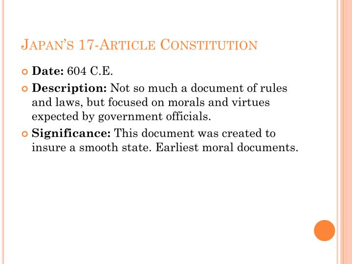 Japan's 17-Article Constitution