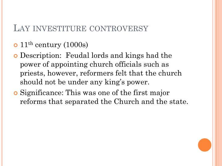 Lay investiture controversy