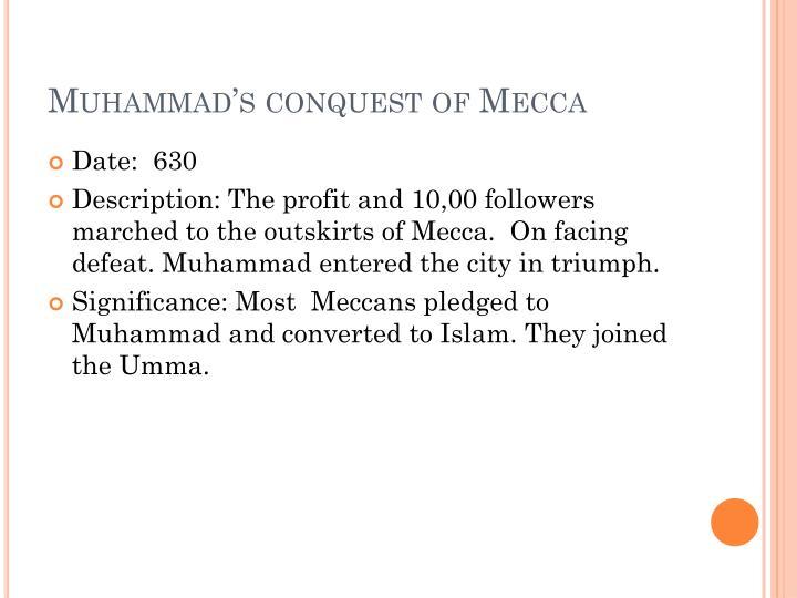 Muhammad's conquest of Mecca