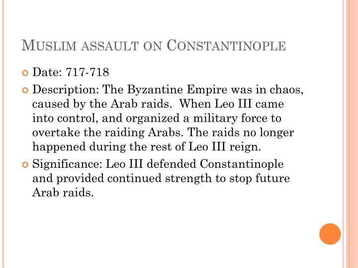 Muslim assault on Constantinople
