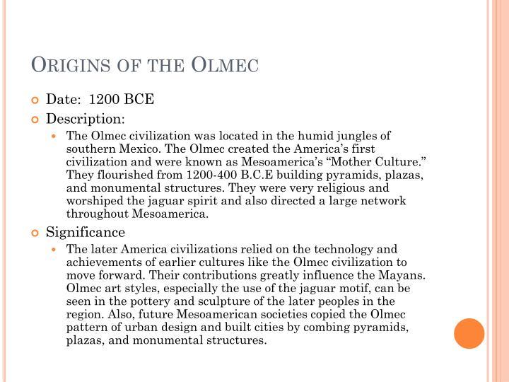 Origins of the Olmec