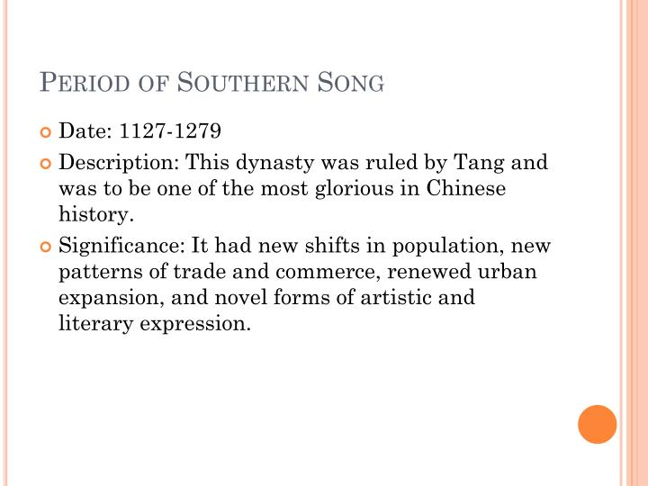 Period of Southern Song