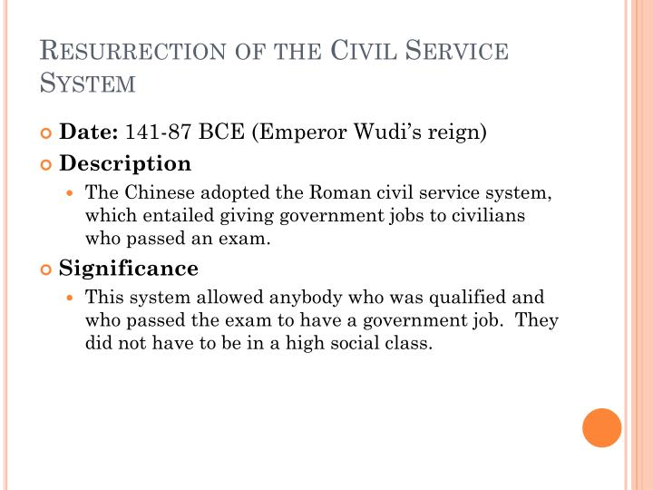 Resurrection of the Civil Service System
