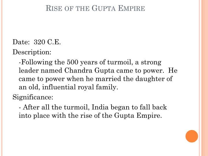 Rise of the Gupta Empire