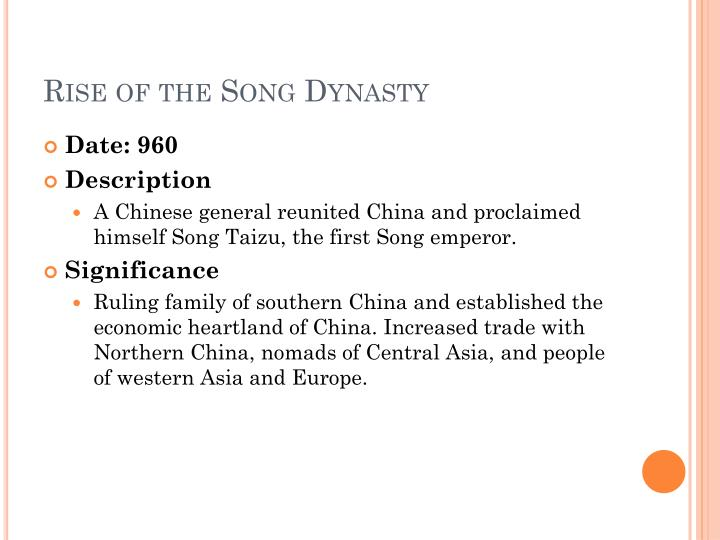 Rise of the Song Dynasty