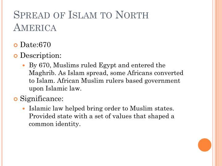 Spread of Islam to North America
