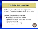 civil discovery context