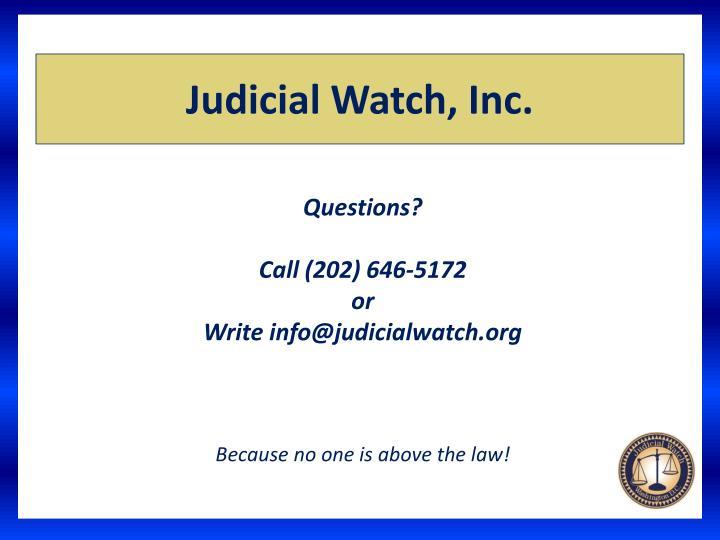 Judicial Watch, Inc.