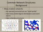 common network structures background