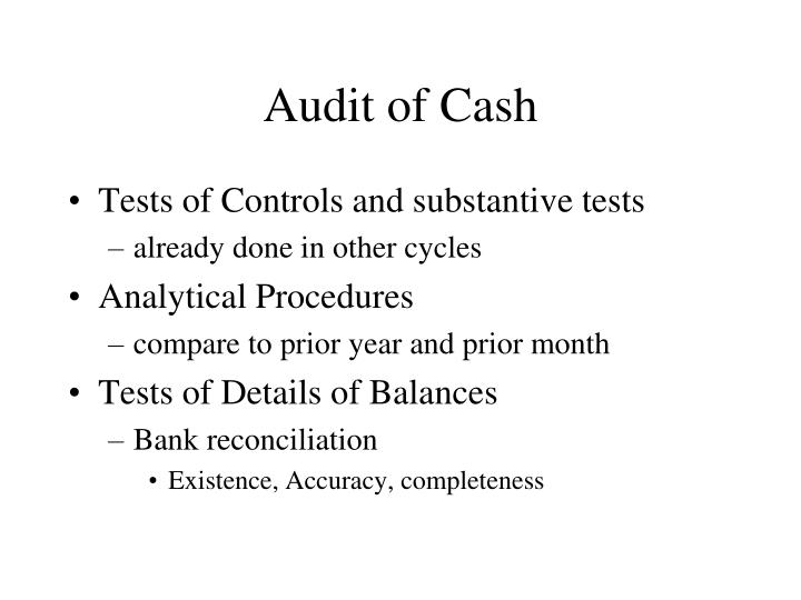 Audit of Cash