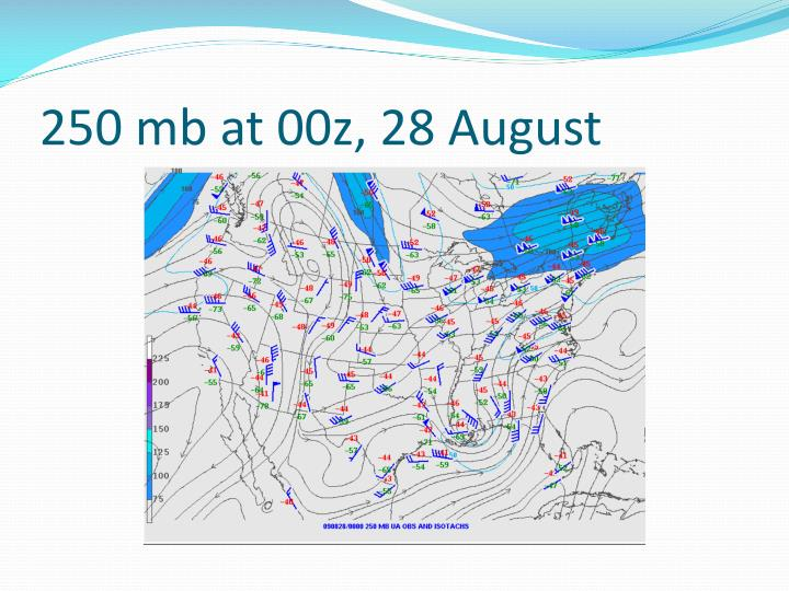 250 mb at 00z, 28 August