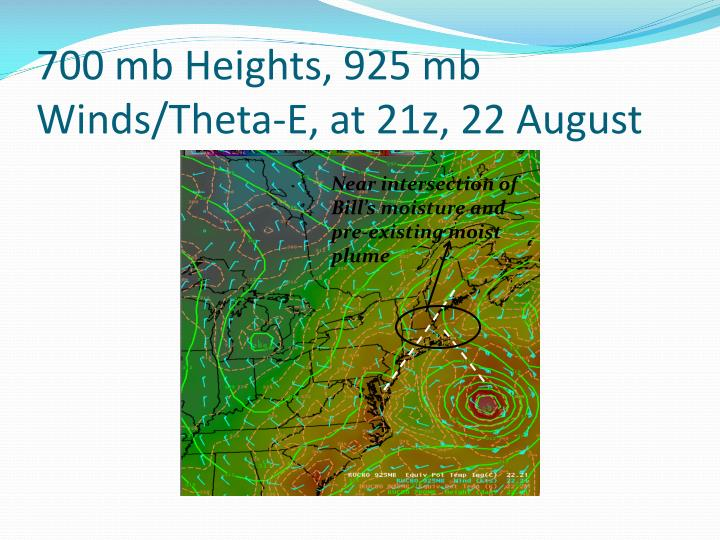 700 mb Heights, 925 mb Winds/Theta-E, at 21z, 22 August
