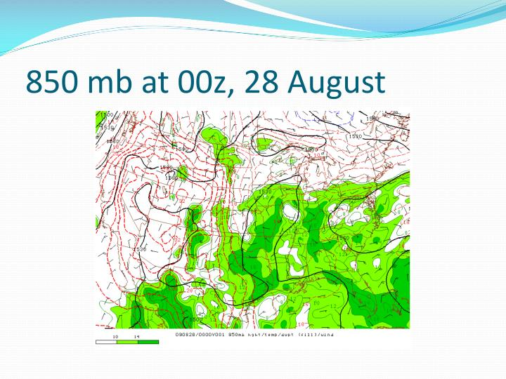 850 mb at 00z, 28 August