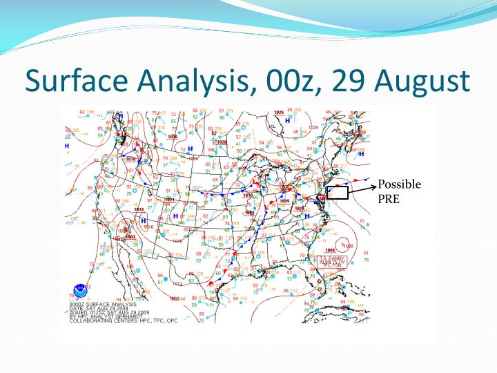 Surface Analysis, 00z, 29 August