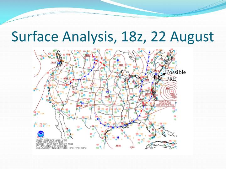 Surface Analysis, 18z, 22 August
