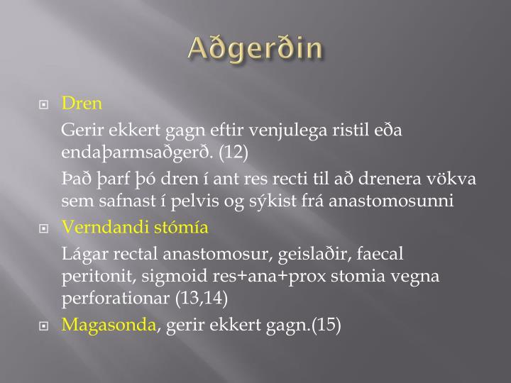 Aðgerðin