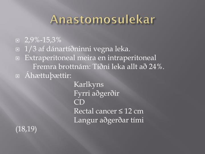 Anastomosulekar