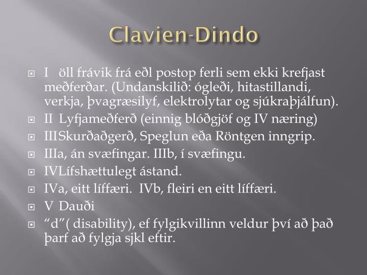 Clavien-Dindo